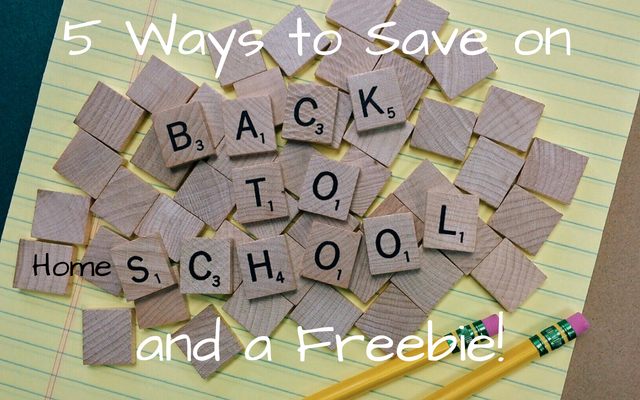 Ways to Save on Back to Homeschool